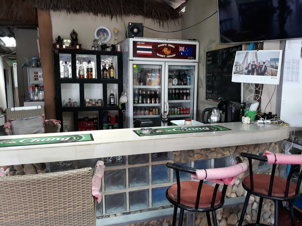 Bar with Seating and Alcohol